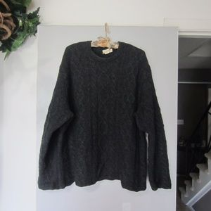 j.Crew Men,s Charcoal Gray Wool Sweater Size Large